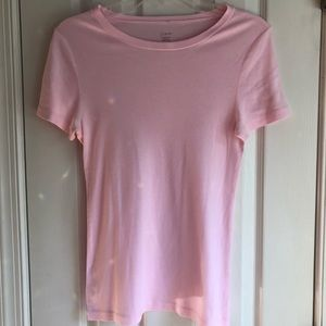 J.Crew Pink Fitted Tee Womens Tshirt 100% cotton L
